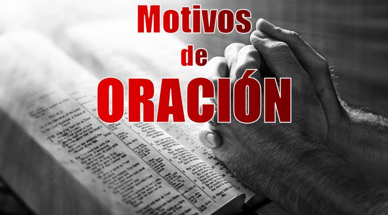 Motivos de oración